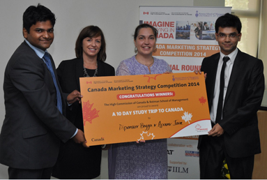 Winners of Canada's Education Marketing Strategy Competition 2014