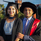 An Indian couple celebrates double graduation in New Zealand