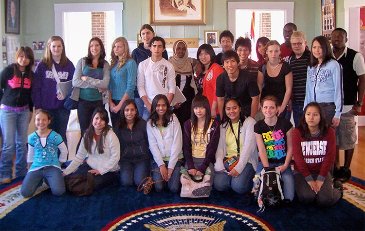 Exchange students on the Kennedy-Lugar Youth Exchange and Study Program