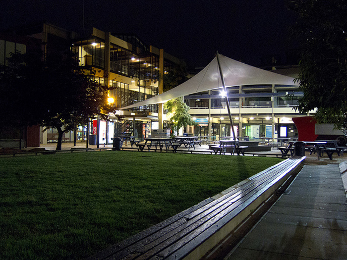 University of Auckland's Student Quad at night