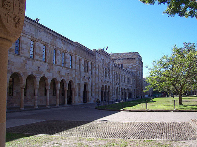 A view of the University of Queensland campus